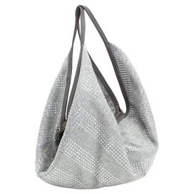 Raindrop Slouch Bag in Grey