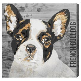 Love My French Bulldog Canvas Print, Oliver Gal
