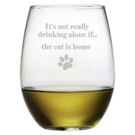 The Cat Is Home Wine Glass (Set of 4)