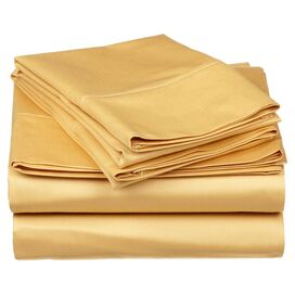 530 Thread Count Egyptian Cotton Sheet Set in Gold
