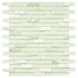 Rochelle Subway Glass & Stone Tile (Set of 10)