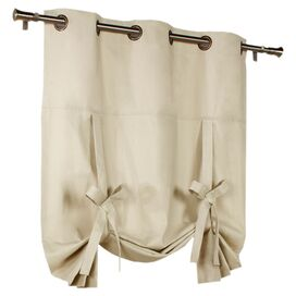 Natural Grommet Tie-Up Curtain Panel
