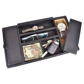 Executive Leather Valet Tray