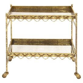Siona Mirrored Serving Cart