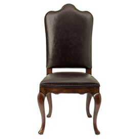 Blake Leather Side Chair in Roasted Chestnut