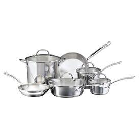 Farberware 10-Piece Millenium Cookware Set in Stainless Steel