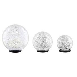 3-Piece Serena Gazing Globe Set in Silver