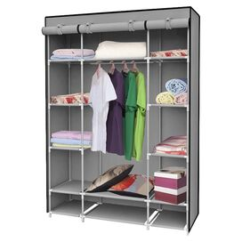 Portable Canvas Closet in Grey