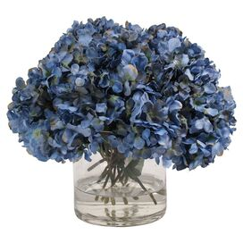 Faux Dark Blue Hydrangea
