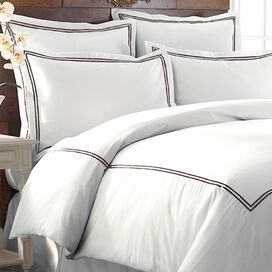 3-Piece Karla Duvet Cover Set in Chocolate
