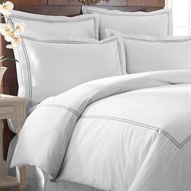 Karla Duvet Cover Set in Graphite