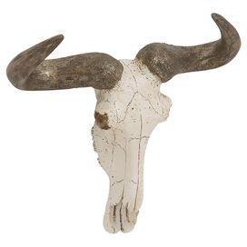 Faux Steer Skull Decor