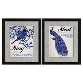 Sing & Strut Framed Print (Set of 2)