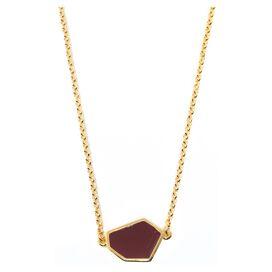 Gold Wine Enamel Aliza Necklace