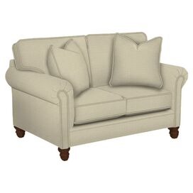 "Vivian 46"" Custom Loveseat in Lizzy Linen"