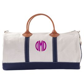 Personalized Duffel Bag in Navy