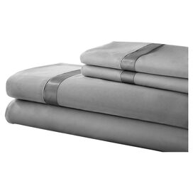 Gilda Sheet Set in Silver & Graphite