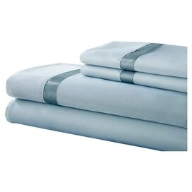 Gilda Sheet Set in Sterling Blue & Celestial