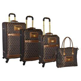 4-Piece Signature Rolling Luggage Set