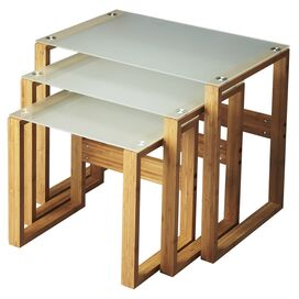 3-Piece Arles Bamboo Nesting Table Set