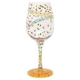 Congrats Wine Glass