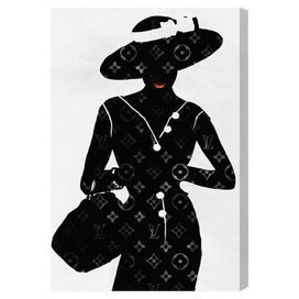 Silhouette of a Lady Canvas Print, Oliver Gal