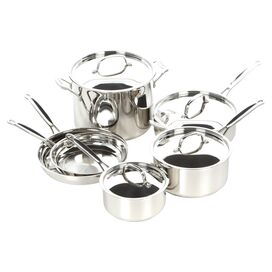 Cuisinart 10-Piece Chef's Classic Cookware Set