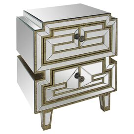 Daria Mirrored Nightstand