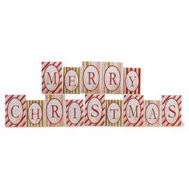 14-Piece Merry Christmas Brick Set