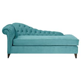 Emmaline Tufted Chaise in Teal
