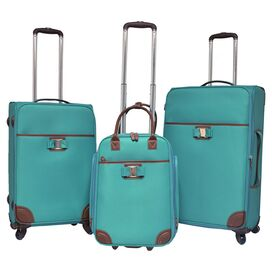 3-Piece Jordan Rolling Luggage Set in Turquoise