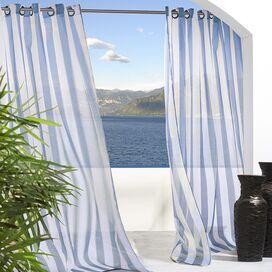 Seaside Indoor/Outdoor Curtain Panel in Blue