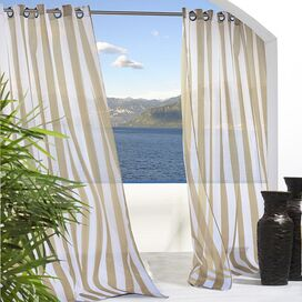 Seaside Indoor/Outdoor Curtain Panel in Khaki