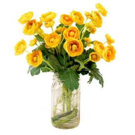 Faux Yellow Ranunculus