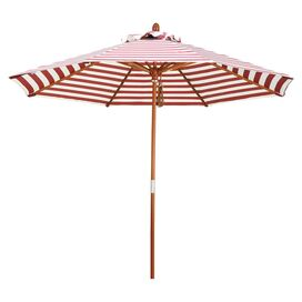 Striped Patio Umbrella in Red
