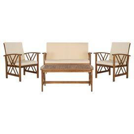 4-Piece Fontana Acacia Patio Seating Group Set