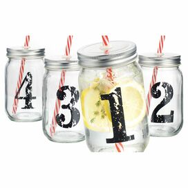 Desto Mason Drinking Jar (Set of 4)