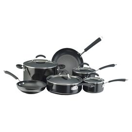 Farberware 12-Piece Millennium Nonstick Aluminum Cookware Set in Black