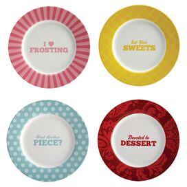 Patterns Porcelain Dessert Plate (Set of 4)