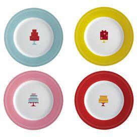 Celebration Porcelain Dessert Plate (Set of 4)