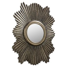 Greer Wall Mirror in Antique Silver