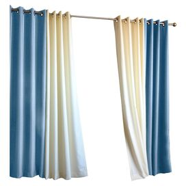 Gabrielle Indoor/Outdoor Curtain Panel in Blue