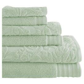 6-Piece Simone Egyptian Cotton Towel Set in Jade