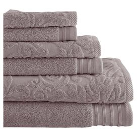 6-Piece Simone Egyptian Cotton Towel Set in Violet
