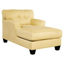 Samantha Tufted Chaise in Goldenrod