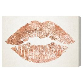 Solid Kiss Copper Canvas Print, Oliver Gal