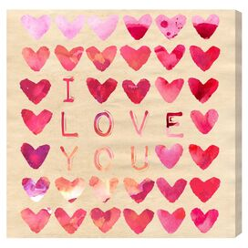 I Love You Canvas Print, Oliver Gal