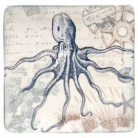 Coastal Postcards Octopus Platter