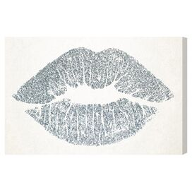 Solid Kiss Silver Canvas Print, Oliver Gal