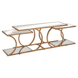 3-Piece Carson Mirrored Coffee Table Set